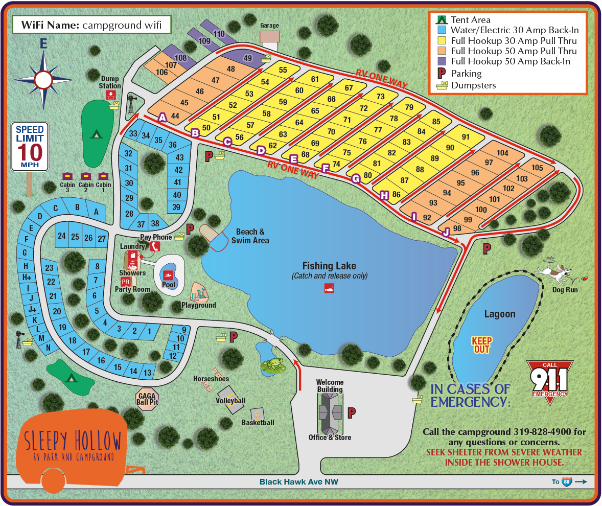 Campground Diamond: Sleepy Hollow RV Park & Campground